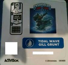 Tidal Wave Gill Grunt Skylanders Trap Team Sticker / Code Only!