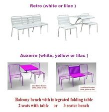 $399 New My Balconia Love Bench Auxerre or Retro - white,yellow or lilac