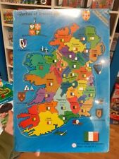 Counties Of Ireland Wooden Map Jigsaw Puzzle