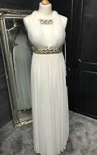 Forever Unique Nola Ivory and Gold Jeweled Prom/evening/ball Dress UK Size 8
