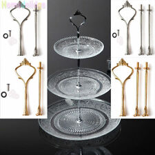 New 2/3 Tier Cake Plate Stands Cupcake Crown Fitting Rod Rack Party Wedding