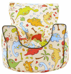 Cotton Green Dinosaur Bean Bag Arm Chair with Beans Toddler Size From Bean Lazy