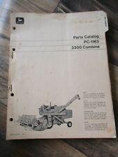 John Deere 3300 Combine Parts Catalog Pc 1163 Repair Shop Book List Manual 1969