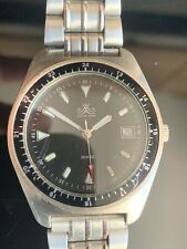 Meister Anker Quartzuhr aus Edelstahl mit Datumsanzeige klassische Uhr