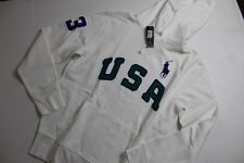 Ralph Lauren Polo USA Men Big Pony White  Jacket Hoodie Sweater Medium M