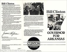 1982 Bill Clinton Arkansas Governor Campaign Brochure (1470)