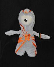 Peluche doudou mascotte officielle J.O. Londres 2012 gris orange 30 cm TTBE