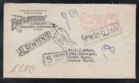 Canada 1954 UNCLAIMED POSTAGE DUE Cover Montreal to Buenos Aires ARGENTINA
