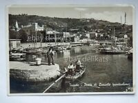 TRIESTE Porto BARCOLA pescatori vecchia cartolina
