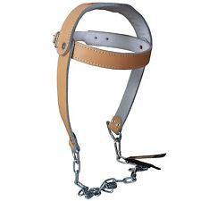 TurnerMAX Cowhide Leather Testa Harness Cinghia LAVAGGI costruzione pesante catena