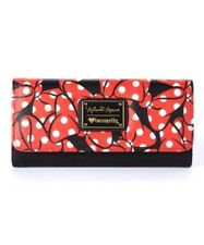 Loungefly Minnie Mouse Black with Red Bows Wallet - New