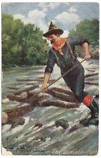 The Lumber Jack by John Innes unused c1910 - Troilene MacFarlane