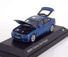 Original BMW de 4 Gran Coupé F36 Maquette Voiture Miniature 1 43 in Estoril Bleu