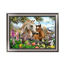 DIY 5D Diamond Embroidery Rhinestone Painting Cross Stitch Decor Horse Animal