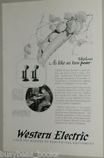 1925 Western Electric advertisement, candlestick telephone making