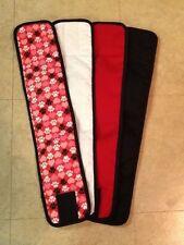 4pk Male Dog Diaper HEART/PAWS, RED, BLACK, WHITE Belly Band Sz XS-XL