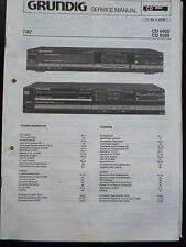 ORIGINALI service manual Grundig CD 8400 Grundig CD 8200