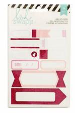 American Crafts Heidi Swapp Label Stickers Pink 11 Piece