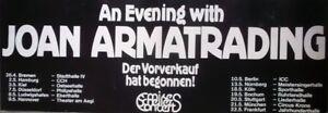ARMATRADING, JOAN - 1980 - Tourplakat - An evening with - Tourposter