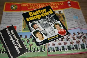 Butter Swap Card Album 1983/4 Cricket Collector Cards Bundle