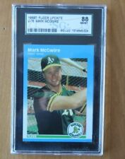 1987 Fleer Update U-76 Mark McGuire RC SGC 8 NM/MINT