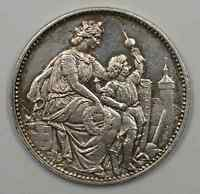 1865 Switzerland Schaffhausen Shooting Festival 5 Francs Silver Coin (JA)