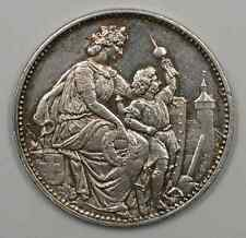 1865 Switzerland Schaffhausen Shooting Festival 5 Francs Silver Coin (JA)