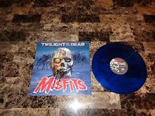 "Misfits Rare Signed Twilight Of The Dead 12"" Blue Vinyl Record Punk Rock Legends"