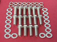 CHEVROLET V8 BB 402 427 454 STAINLESS HEX HEAD INLET MANIFOLD BOLTS