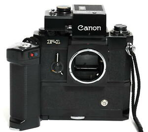 Canon F-1 w. Motor Drive MF and Batterie Grip MF + Booster T finder