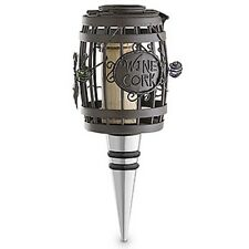 WINE BARREL Metal Cork Cage Bottle Stopper with Cork--by Epic Wine Products