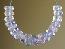 Natural Purple Blue Tanzanite Faceted Rondelle Gemstone Beads 3-4.5mm.