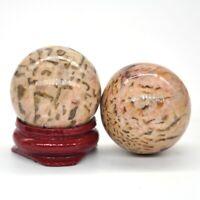 30MM Natural Zebradorite Crystal Stone Healing Reiki Gemstone Shpere Ball Globe