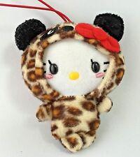 Hello Kitty Plush Doll Stuffed Animal Toy Strap Panda Leopard Sanrio From Japan