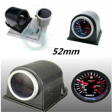 "2"" 52mm Carbon Fiber Cover Car Digital White & Red PSI Turbo Boost Gauge Meter"