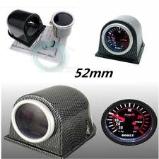 "2"" 52mm Carbon Fiber Cover Car Digital White & Red PSI Turbo Boost Gauge Meter"