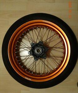 KTM SMC R 690 2015 Vorderradfelge 17xMT3,5H2 mit Reifen ,Orange glänzend