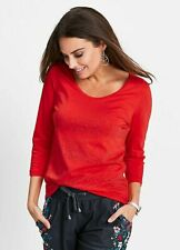 Tomato Red Fitted Top Covered In Sparkling Rhinestones size S (10-12)