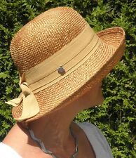 Damen Hut Seeberger Ramiefaser Aufschlaghut Farbauswahl Anlasshüte Sonnenschutz
