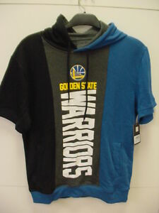 NBA*STEPHEN CURRY*WARRIORS BLUE/BLACK*HOODED*S/S*SWEAT SHIRT*MEDIUM*NEW W/TAGS