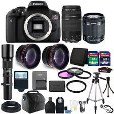 Canon EOS Rebel T6i/750D 24.2MP DSLR Camera E-FS 18-55mm + 75-300mm Accessories