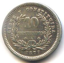 Uruguay République 10 Centesimos 1877 A Paris KM 14