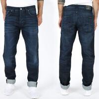 Nudie Herren Regular Tapered Fit Jeans Hose | Steady Eddie Midnight Blues
