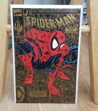 Spider-Man 1 Gold comic book Vf/Nm Todd McFarlane art 1990 Torment