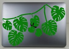 Cheese plant x 8 leaf /Laptop / iPad/  Vinyl/ Decal/ Stickers/ window/ tablet