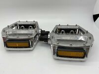 "BLACK OPS PLATFORM ALLOY SILVER 9/16"" BICYCLE PEDALS  BMX BIKE"