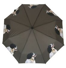 Springer Spaniel Dog Umbrella Brolly Auto Open With Pouch, Folds To Fit in a bag