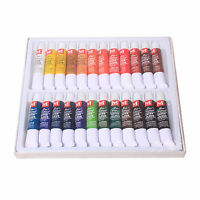 Hot 24 Color 12ml Paints Tube Draw Painting Water Color Set