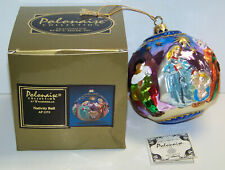 Polonaise Kurt Adler Nativity Ball Glass Christmas Ornament Ap1173 Komozja New