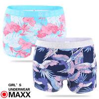 MAXX 5/8 pack Girls Cotton Shorties Boyleg Underwear size 6-16